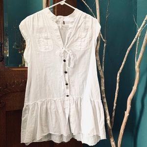 FREE PEOPLE Cotton Linen Tunic